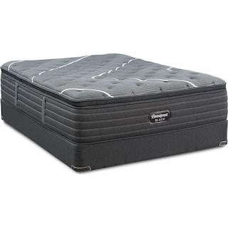 BRB C-Class Plush Pillow Top Queen Mattress and Split Foundation