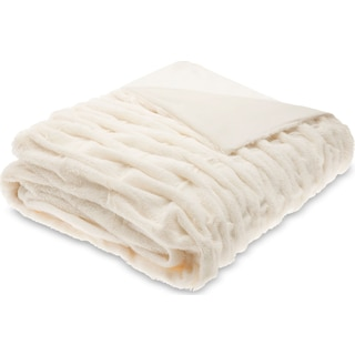 Blaire Faux Fur Throw - Ivory