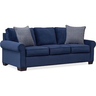 Blake Queen Foam Sleeper Sofa - Indigo