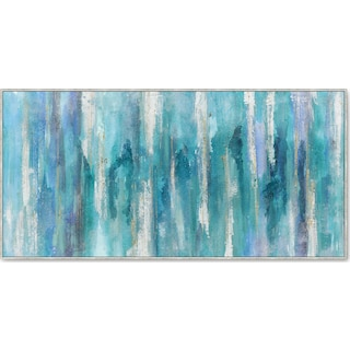 Blue Purple Abstract Wall Art