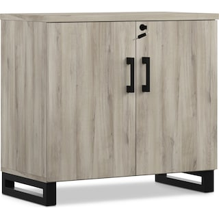 Boone Storage Cabinet - Gray Oak