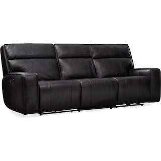 Bradley Triple-Power Reclining Sofa - Black