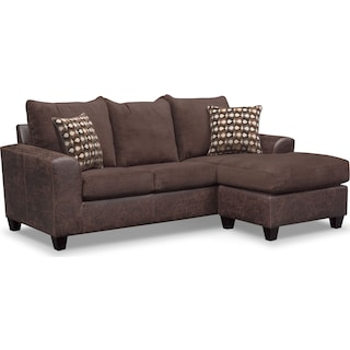 Brando 2-Piece Sofa with Chaise - Chocolate