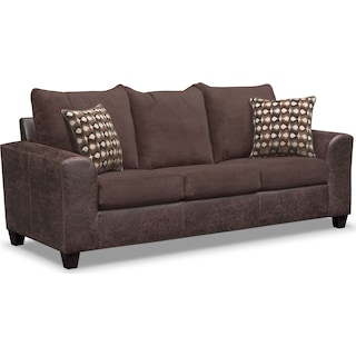 Brando Queen Foam Sleeper Sofa - Chocolate