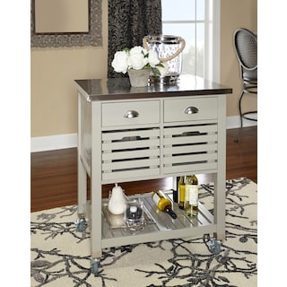 Brighton Kitchen Cart - Gray
