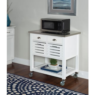 Brighton Kitchen Cart - White