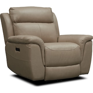 Brooklyn Dual-Power Recliner - Ivory