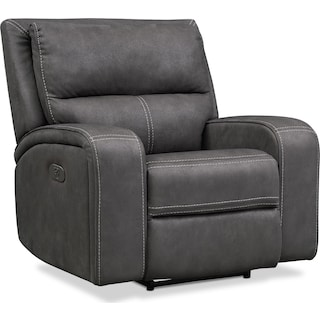 Burke Dual-Power Recliner - Charcoal