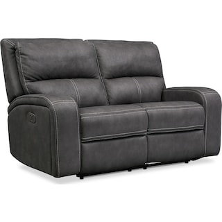 Burke Dual-Power Reclining Loveseat - Charcoal