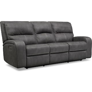 Burke Dual-Power Reclining Sofa - Charcoal