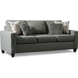 Burton Queen Foam Sleeper Sofa - Smoke