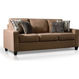 Burton Queen Memory Foam Sleeper Sofa - Taupe