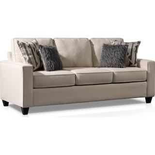 Burton Queen Foam Sleeper Sofa - Ivory