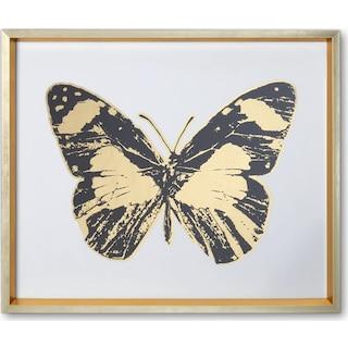 Butterfly Wall Art - Black/Gold