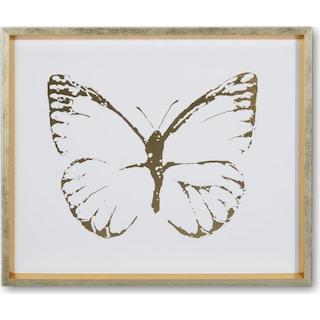 Butterfly Wall Art - Blue/Gold