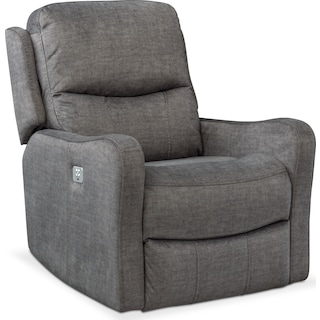 Cabo Dual-Power Recliner - Gray