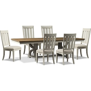 Cambridge Rectangular Dining Table and 6 Dining Chairs