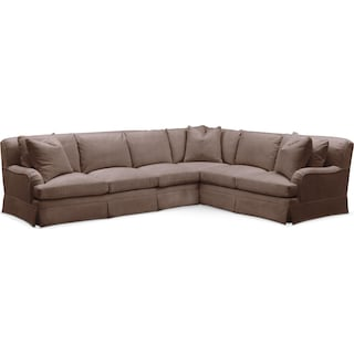 Campbell Cumulus 2-Piece Large Sectional with Left-Facing Sofa - Oakley III Java
