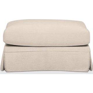 Campbell Comfort Ottoman - Curious Pearl