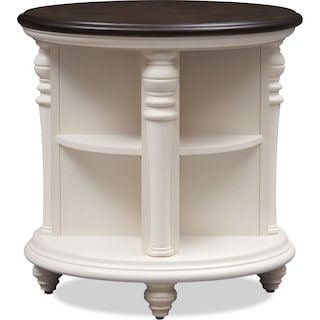 Charleston Round End Table - Vintage White