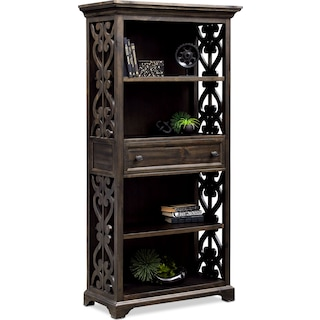 Charthouse Bookcase - Charcoal
