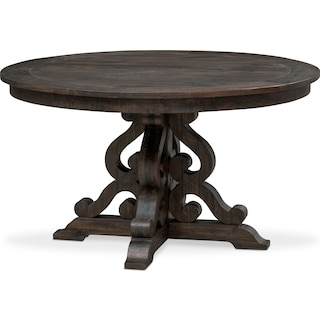 Charthouse Round Dining Table - Charcoal