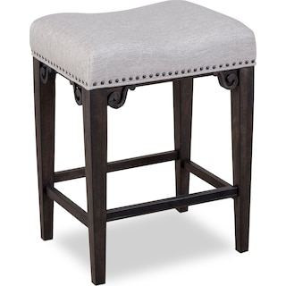 Charthouse Counter-Height Backless Stool - Charcoal
