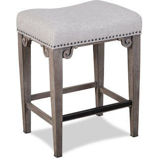 Charthouse Counter-Height Backless Stool - Gray