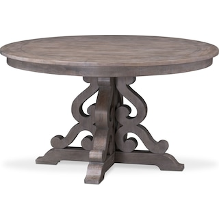 Charthouse Round Dining Table - Gray