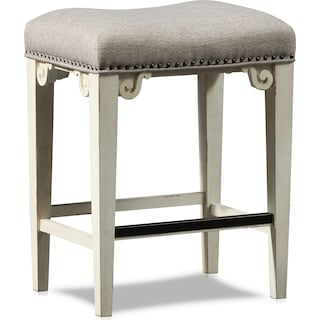 Charthouse Counter-Height Backless Stool - Alabaster