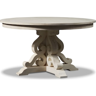 Charthouse Round Dining Table - Alabaster