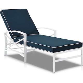 Clarion Outdoor Chaise Lounge - Navy