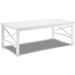 Clarion Outdoor Coffee Table - White