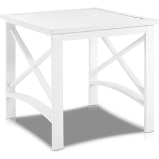 Clarion Outdoor End Table - White
