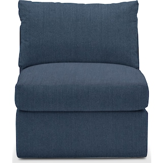 Collin Cumulus Performance Armless Chair - Peyton Navy