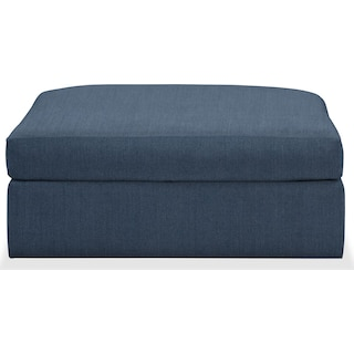 Collin Cumulus Performance Ottoman - Peyton Navy