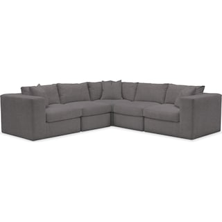 Collin Comfort Performance 5-Piece Sectional - Benavento Stone
