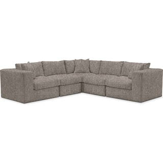 Collin Cumulus Performance 5-Piece Sectional - Halifax Dove