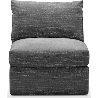 Collin Cumulus Armless Chair - Charcoal