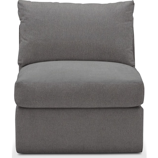 Collin Cumulus Armless Chair - Hugo Graphite