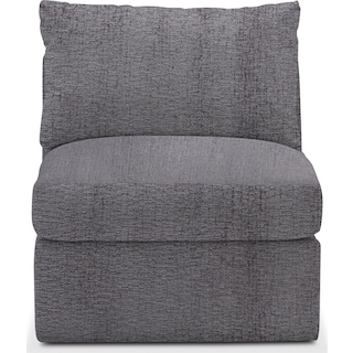 Collin Cumulus Armless Chair - Living Large Charcoal