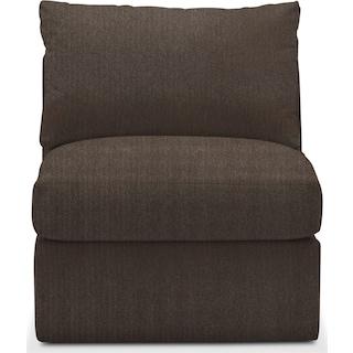 Collin Cumulus Armless Chair - Weddington Charcoal