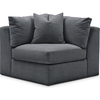 Collin Cumulus Corner Chair - Depalma Charcoal
