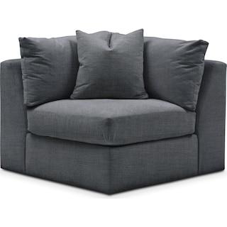 Collin Cumulus Corner Chair - Depalma Charcoal