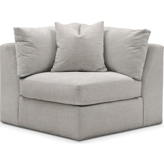 Collin Cumulus Corner Chair - Dudley Gray