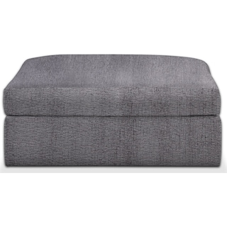 Collin Cumulus Ottoman - Living Large Charcoal