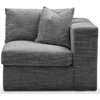 Collin Comfort Right-Facing Chair - Charcoal