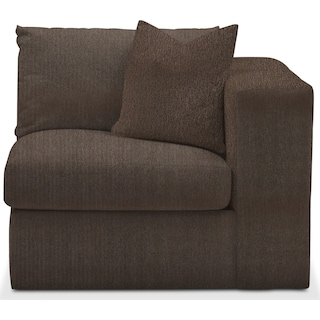 Collin Cumulus Right-Arm Facing Chair - Weddington Charcoal