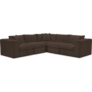 Collin Comfort 5-Piece Sectional - Weddington Charcoal