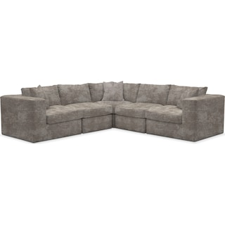 Collin Comfort 5-Piece Sectional - Hearth Cement